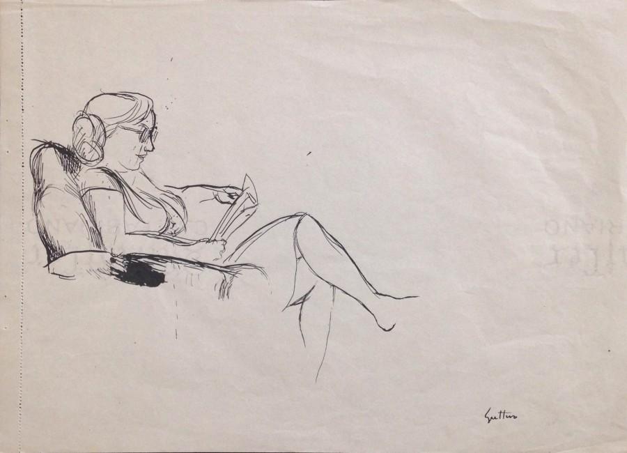 Renato Guttuso - Mimise che legge