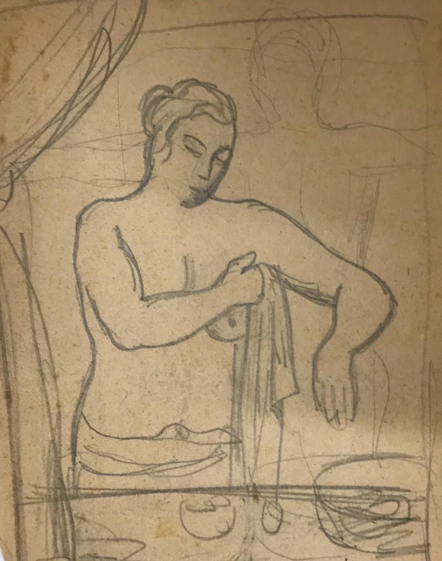 Mario Tozzi - Studio per ragazza che si asciuga