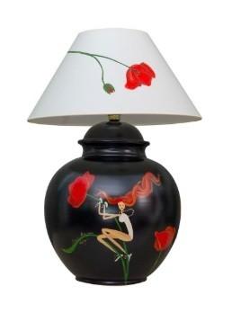 Marie Maison Sicilian Design - Lume Fate e fiori Nero