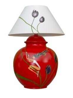 Marie Maison Sicilian Design - Lume Fiori e fate Rosso