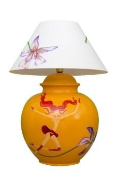 Marie Maison Sicilian Design - Lume fiori e fate Giallo