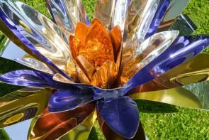 Chelita  Zuckermann -Fiore di loto viola e oro