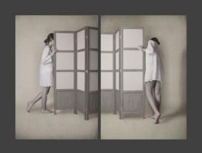 Michele Ranzani - Interno con figure, studio XXIV