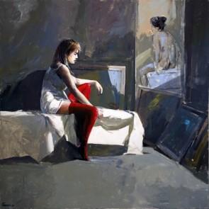 Antonio Tamburro - Modella nello studio