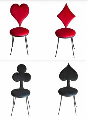 Marie Maison Sicilian Design - Sedie Poker Semi di carte