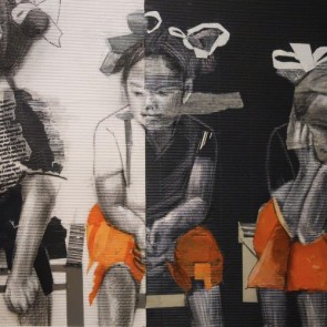 Sonia Ceccotti - Three little Chinese girls