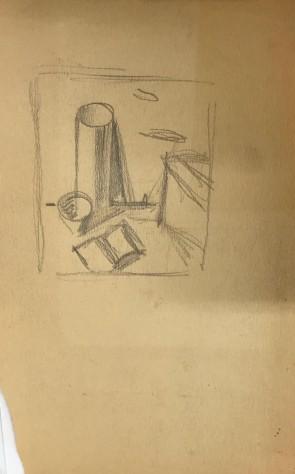 Mario Tozzi - Studio per vaso e libro aperto